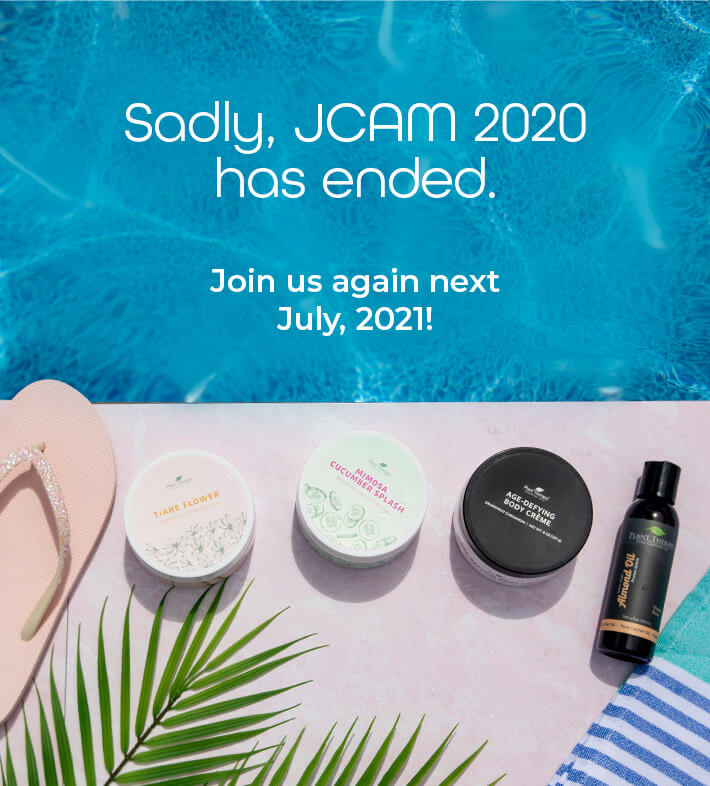 Sadly, JCAM 2020 has ended. Join us next July 20201!