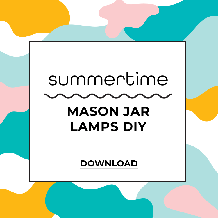 Summertime Mason Jar Lamps DIY Download PDF