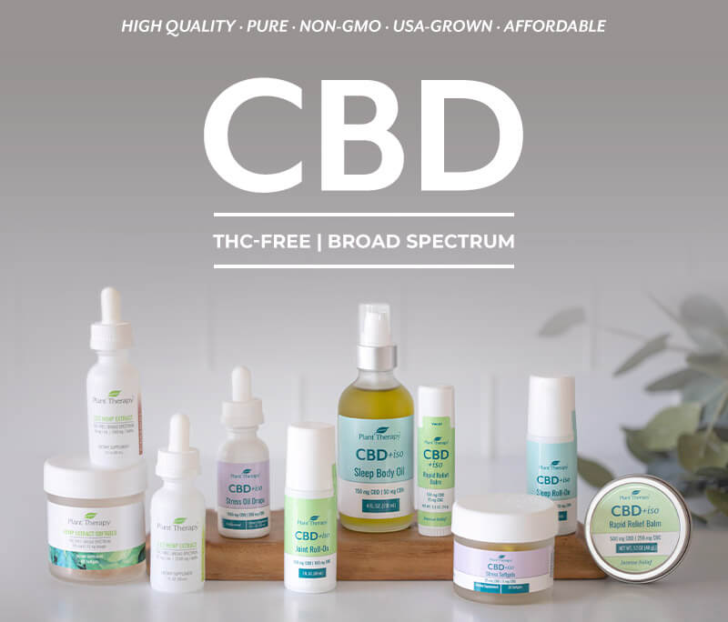 CBD - THC-free, Broad Spectrum - High qualty, pure, non-GMO, USA Grown, Affordable
